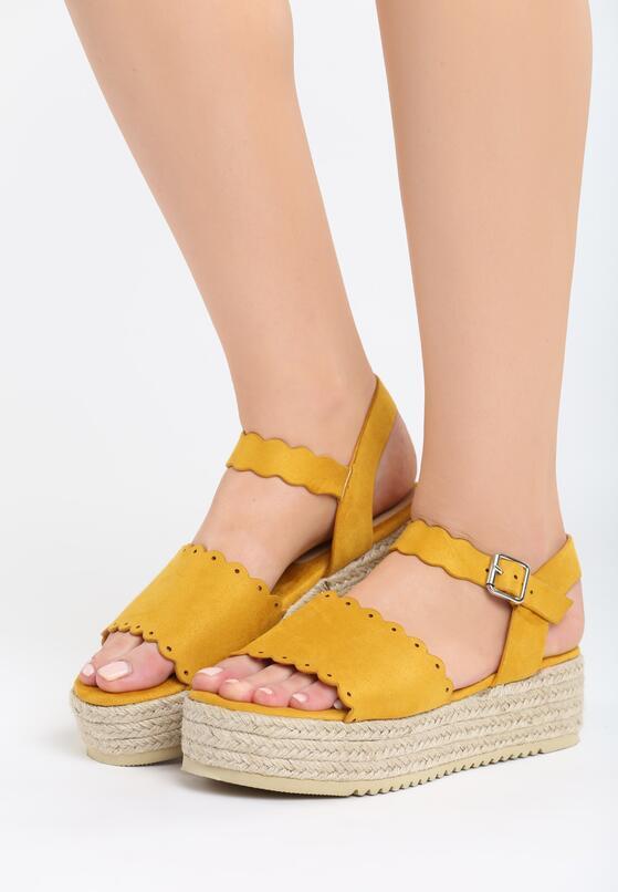Żółte Sandały Stolen Heart