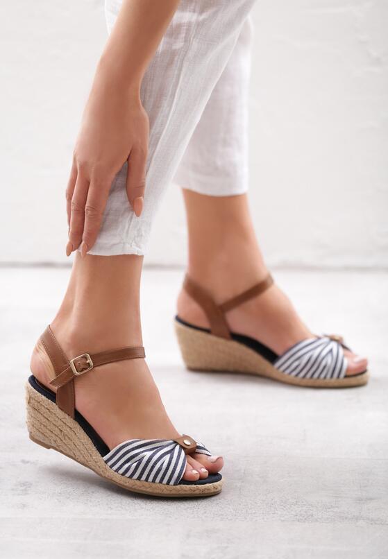 Granatowe Sandały Matelot