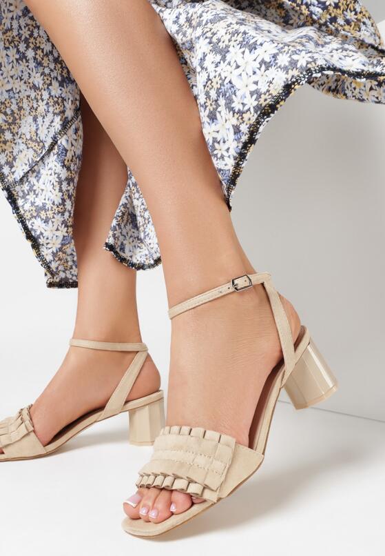 Beżowe Sandały That's Crazy
