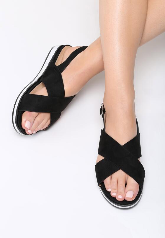 Czarne Sandały Righteous