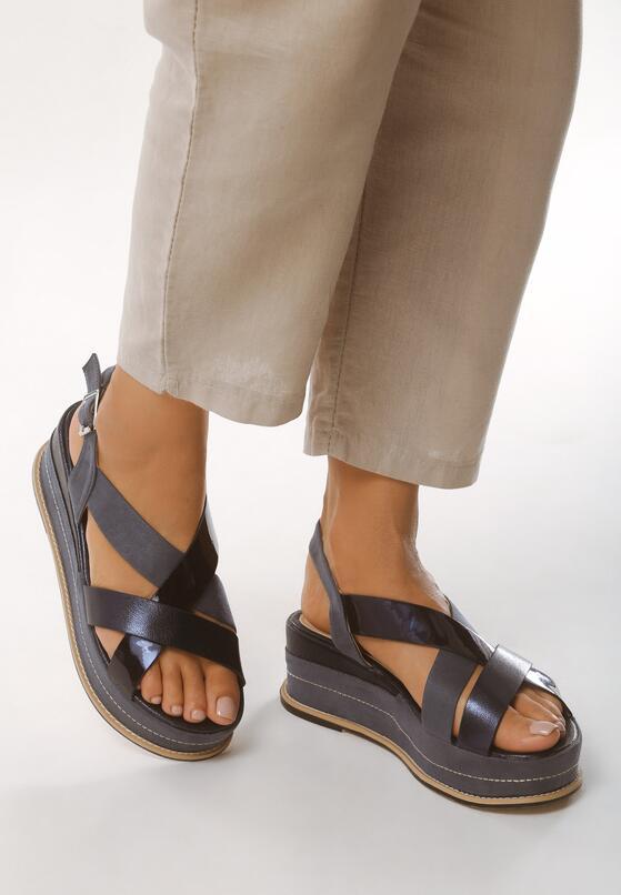 Niebieskie Sandały Shiny Shamrock