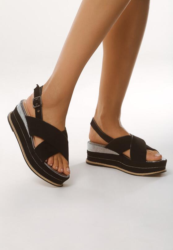 Czarne Sandały Halfway To Paradise