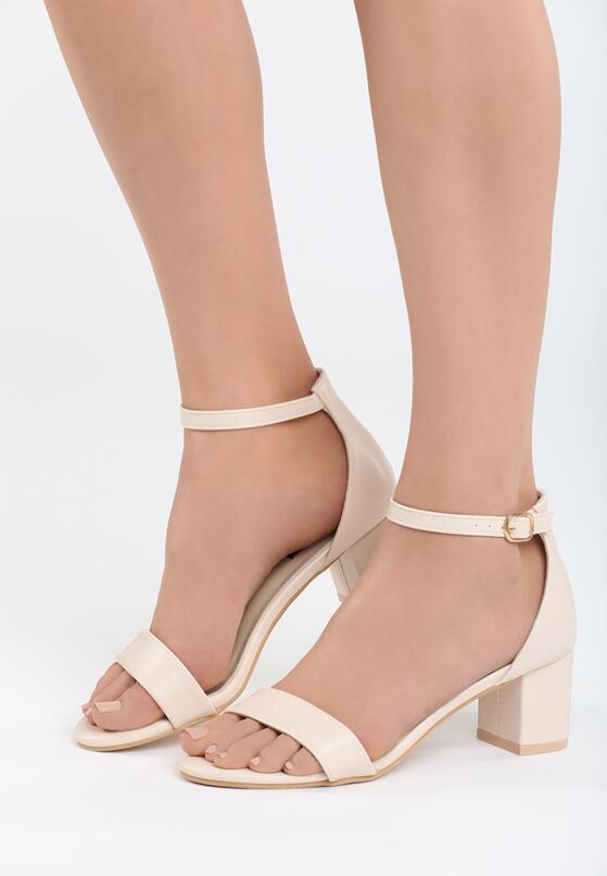 Beżowe Sandały Bright Star