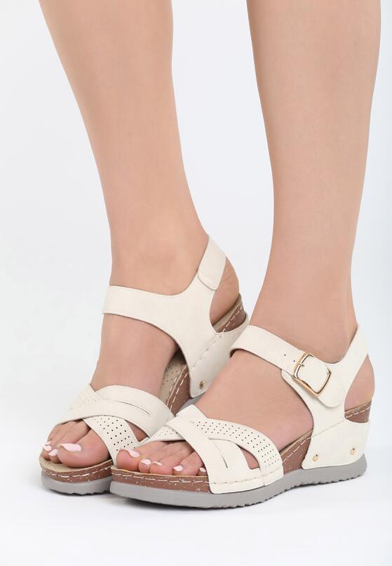 Beżowe Sandały Connection