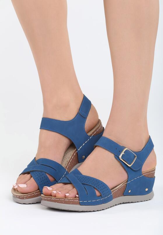 Granatowe Sandały Connection