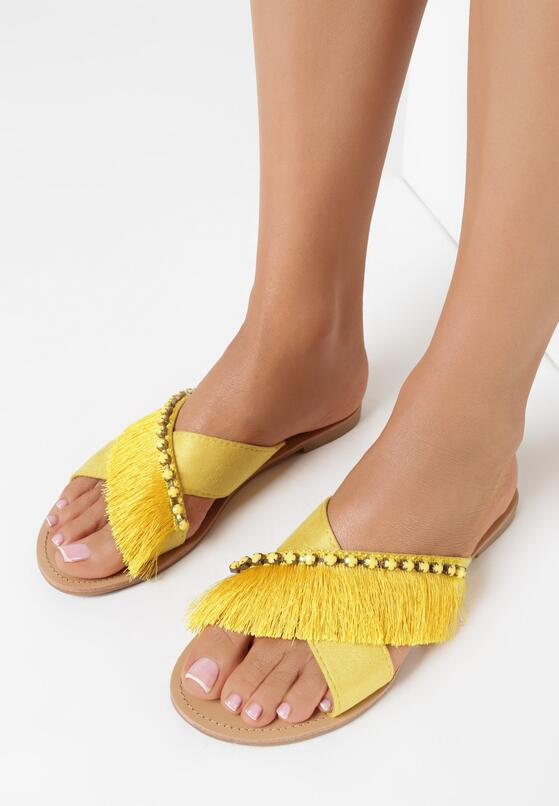 Żółte Klapki Flamboyant