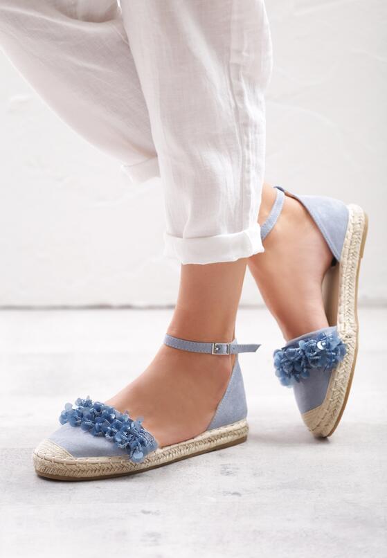 Niebieskie Espadryle Mimi Pink