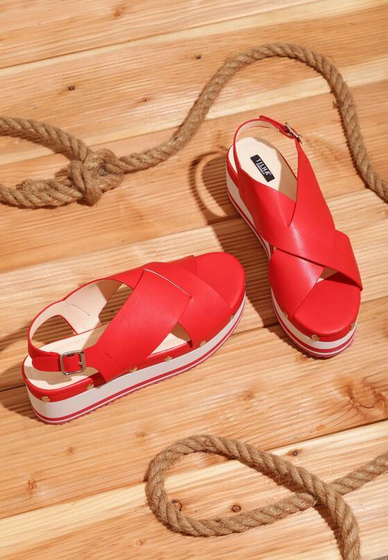 Czerwone Sandały Smitten
