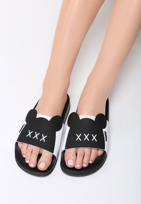 Czarne Klapki Minnie's Shoes