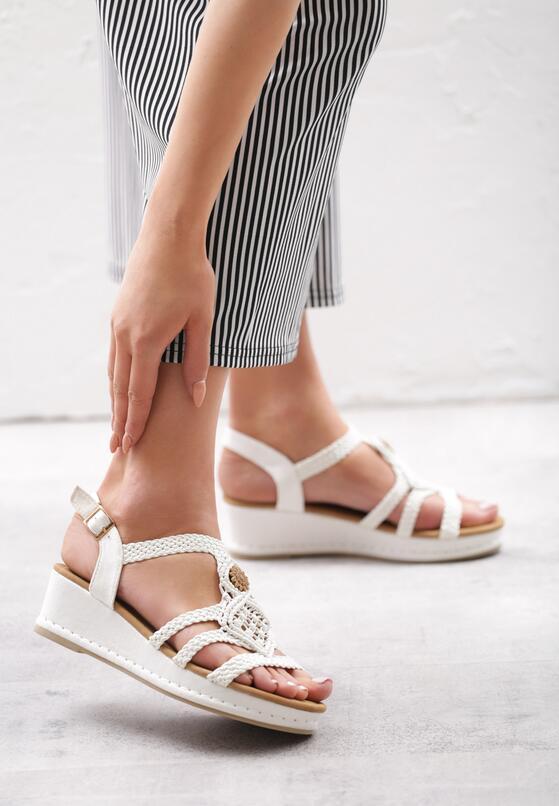 Białe Sandały Robust Design