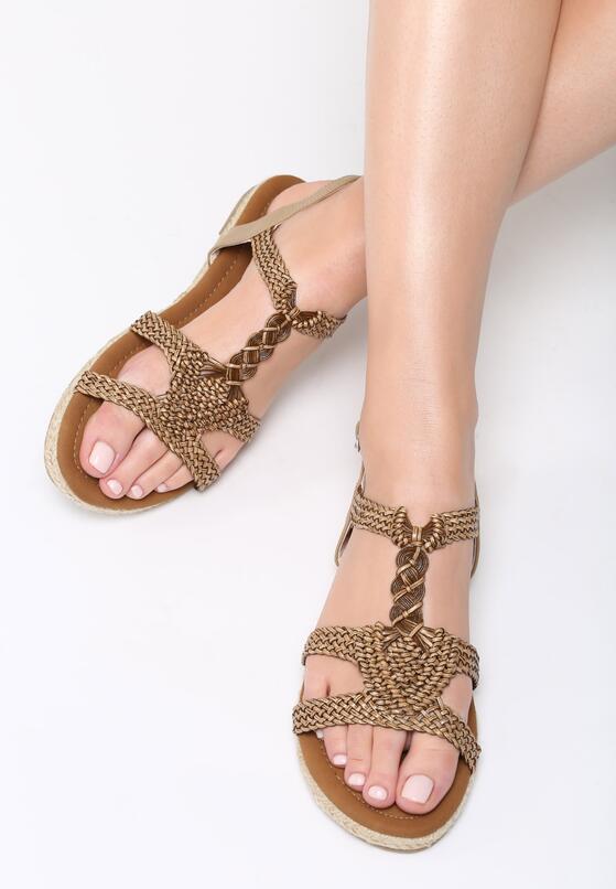 Brązowe Sandały Mirthful