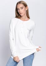Biały Sweter Does It Feel