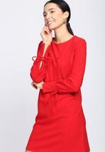 Czerwona Sukienka Open-Hearted