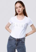 Biała T-shirt Rich