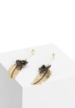Złoto-Czarne Kolczyki By Design