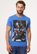 Niebieska Koszulka Determinedly