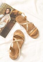 Beżowe Sandały Atomtronics