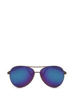 Czarno-Fioletowe Okulary Imprint