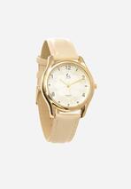 Jasnobeżowy Zegarek Slimness