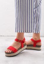 Czerwone Sandały On Cloud Nine