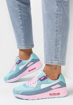 Niebieskie Neonowe Buty Sportowe Candy