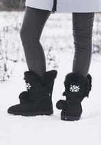 Czarne Śniegowce Ice Queen
