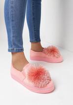 Różowe Slip On Tassel