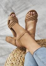 Beżowe Sandały Go Getter