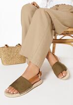 Zielone Sandały Womanliness