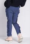 Niebieskie Spodnie Dresowe Loosen