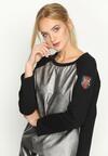 Czarno-Srebrna Bluza Double Clutch