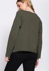 Zielono-Srebrna Bluza Double Clutch