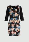 Niebiesko-Beżowa Sukienka Flower Power
