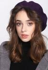 Fioletowy Beret Parisian Chic