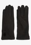 Czarne Rękawiczki Shammy