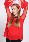 Czerwona Bluzka Ladylike