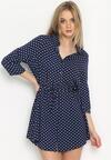 Niebieska Sukienka Soft And Dot