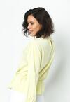 Żółta Bluzka Lace Trims