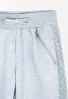 Szare Spodnie Dresowe Lacy Belt