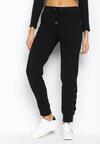 Czarne Spodnie Dresowe Interlace