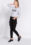 Czarne Spodnie Cargo Fashion