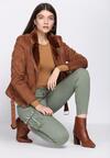 Khaki Spodnie Cargo Fashion