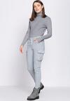 Szare Spodnie Cargo Fashion