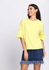 Żółta Bluzka Romantic Way
