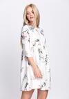 Biała Sukienka Full Flower