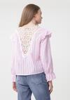 Różowa Bluzka Lace Back