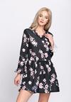 Granatowo-Różowa Sukienka Sleepy Petal