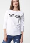 Biała Bluzka Boss Lady