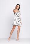 Biała Sukienka La La Love