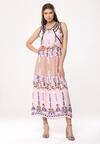 Różowa Sukienka Kaleidoscopic Lovers